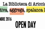 Un Open Day in biblioteca: spettacoli, laboratori, concerti ad Ariccia