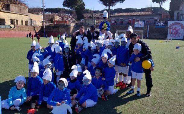 Grottaferrata, Vivace Furlani 1922: gioia e spensieratezza per la scuola calcio nel torneo di Carnevale e nelle amichevoli con la Roma