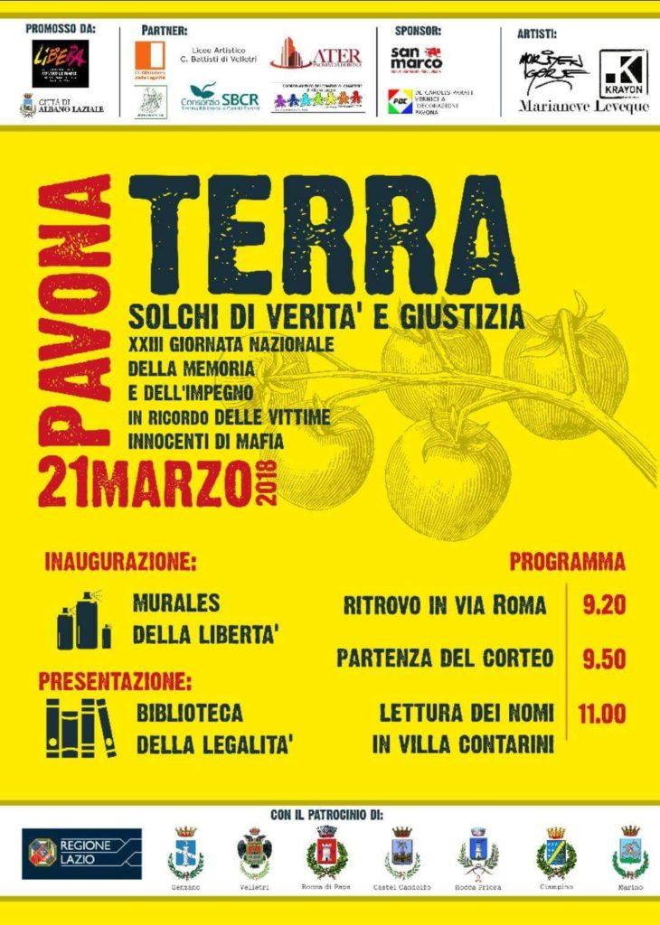 Street Art e legalità in provincia di Roma. 21 marzo 2018 – Pavona