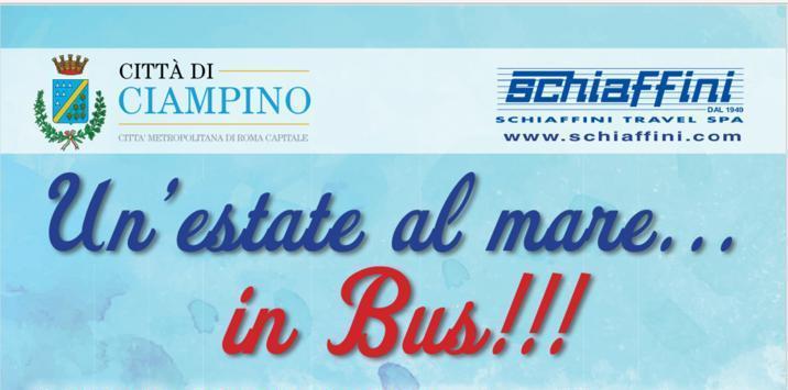 """Istituito il nuovo servizio di trasporto per il mare: """"Un'estate al mare… in Bus!!!"""""""