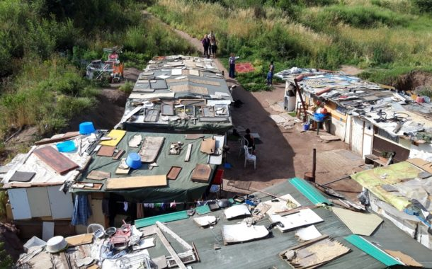 Sgomberata una baraccopoli su terreni di proprietà del Comune di Frascati nel VII Municipio
