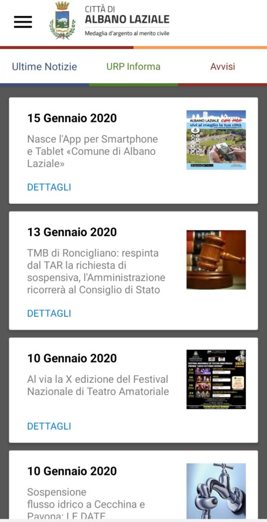 Albano: nasce la nuova app comunale