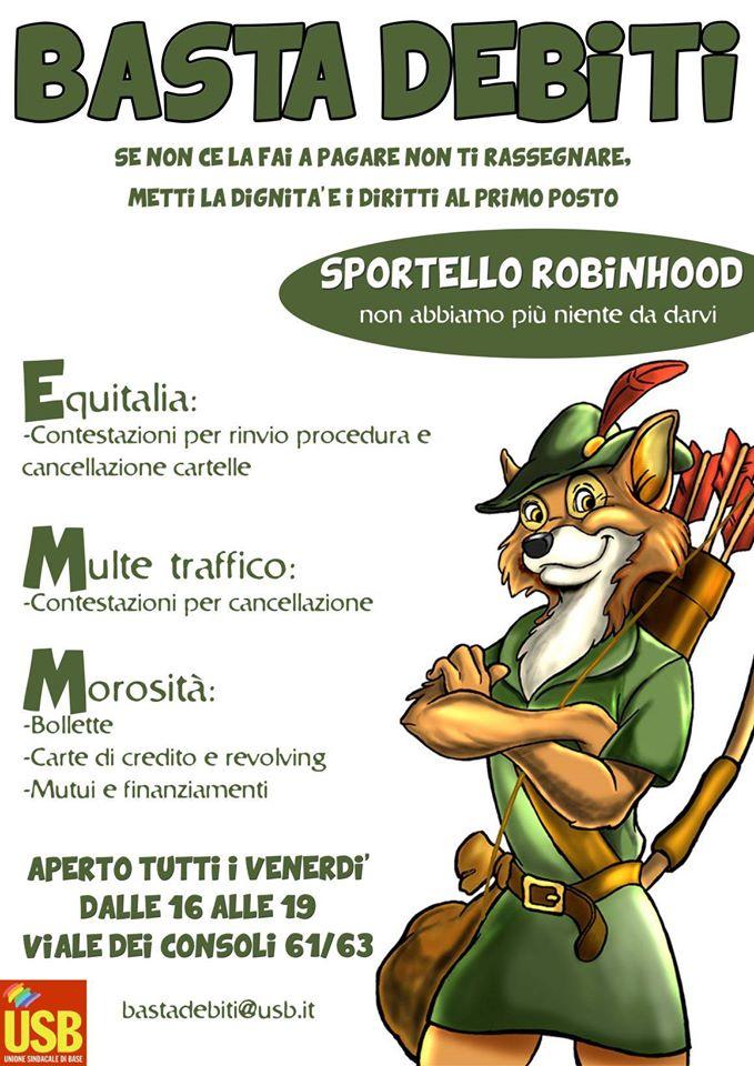 Basta Debiti: Robin Hood è vivo e sta al Quadraro