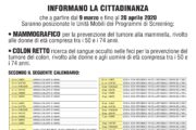 PROGRAMMA SCREENING MAMMOGRAFICO E DEL COLON RETTO A MARINO