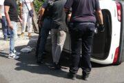 Auto si ribalta in Via Mura dei Francesi a Ciampino